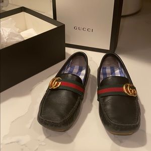 Authentic Gucci Loafers for boys with gold GG
